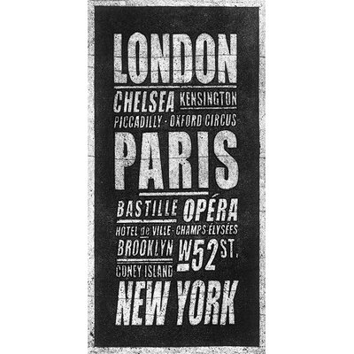 Art Group London Paris New York by Barry Goodman Typography