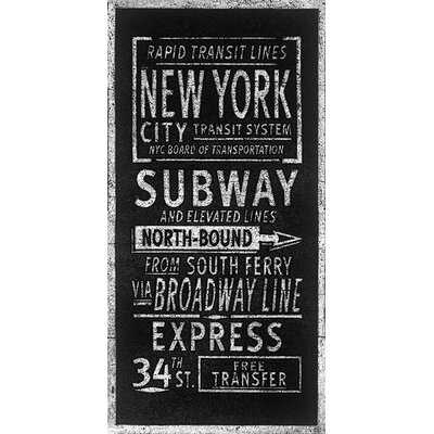 Art Group Rapid Transport Lines New York by Barry Goodman Typography