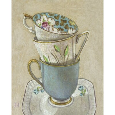 Art Group 3 Cups on Saucer by Andrea Letterie Canvas Wall Art