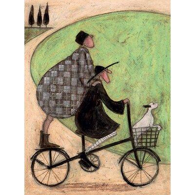Art Group Double Decker Bike by Sam Toft Canvas Wall Art