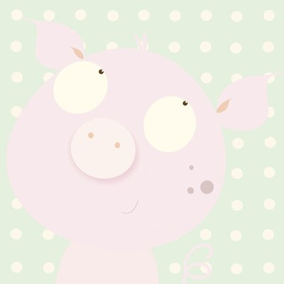 Art Group Pinky Piggy by Nicola Evans Canvas Wall Art