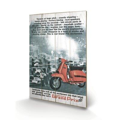 "Art Group Lambretta ""Grand Prix"" Vintage Advertisement Plaque"