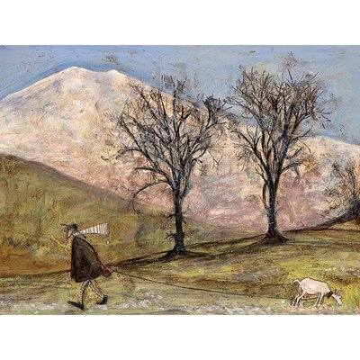 Art Group Walking with Mansfield by Sam Toft Canvas Wall Art