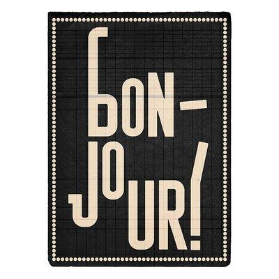 Art Group Bonjour by Edu Barba Typography Canvas Wall Art