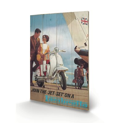 """Art Group Lambretta """"Jet Set"""" Vintage Advertisement Plaque"""