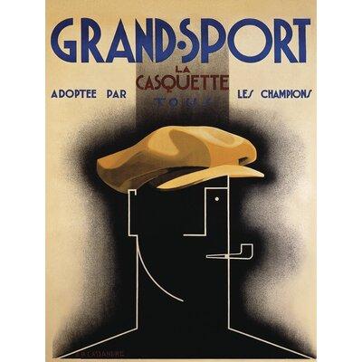 Art Group Grand Sport 1925 by A.M.Cassandre Vintage Advertisement Canvas Wall Art