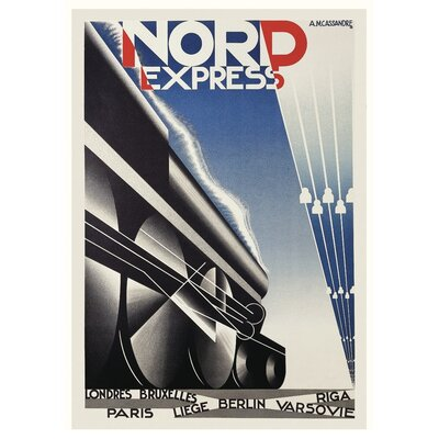 Art Group Nord Express by A.M.Cassandre Vintage Advertisement Canvas Wall Art