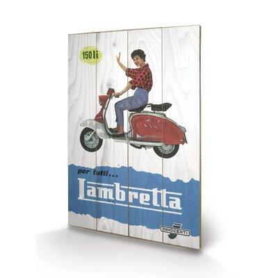 "Art Group Lambretta ""150 LI"" Vintage Advertisement Plaque"