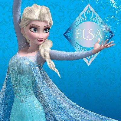 Art Group Frozen, Elsa Poster Vintage Advertisement on Canvas