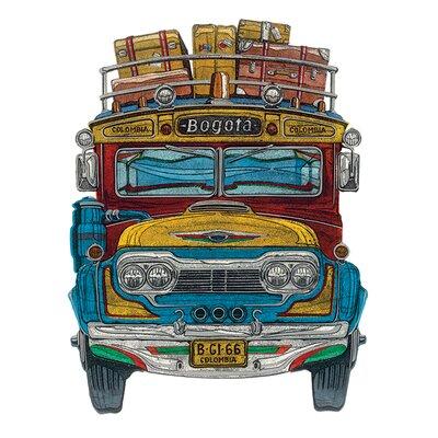 Art Group Columbian Bus by Barry Goodman Canvas Wall Art