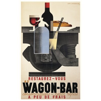 Art Group Wagon Bar by A.M.Cassandre Poster Vintage Advertisement Canvas Wall Art