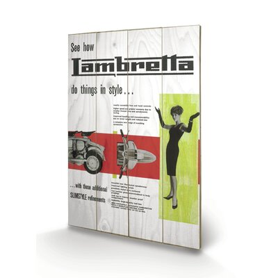 """Art Group Lambretta """"Do Things in Style"""" Vintage Advertisement Plaque"""