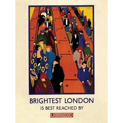 Art Group Transport for London - Brightest London Vintage Advertisement Canvas Wall Art