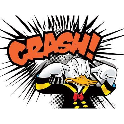 Art Group Donald Duck Crash Canvas Wall Art