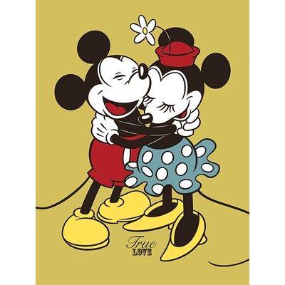 Art Group Mickey and Minnie Mouse, True Love Vintage Advertisement Canvas Wall Art