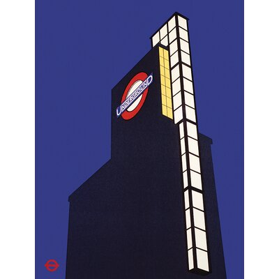 Art Group Transport For London - Designed for London Vintage Advertisement Canvas Wall Art