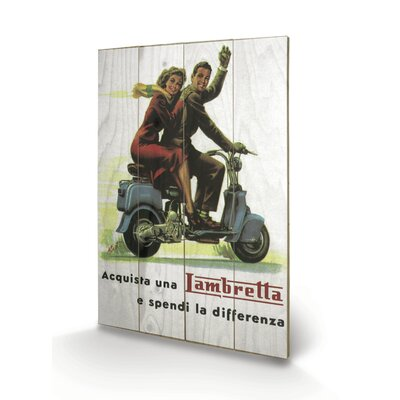 "Art Group Lambretta ""Differenza"" Vintage Advertisement Plaque"