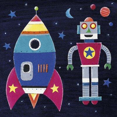 Art Group Rocket by Simon Hart Canvas Wall Art