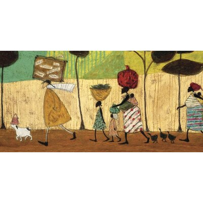 Art Group Doris Helps Out on the Trip to Mzuzu by Sam Toft Canvas Wall Art