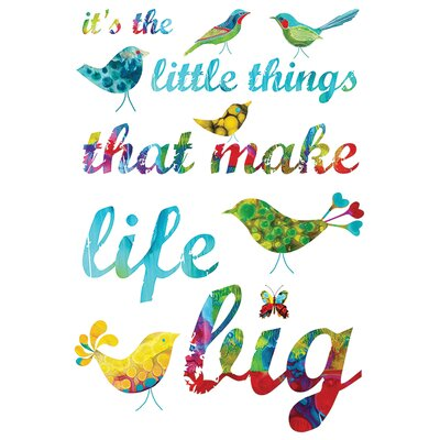 Art Group It's the Little Things by Kathy Panton Typography on Canvas