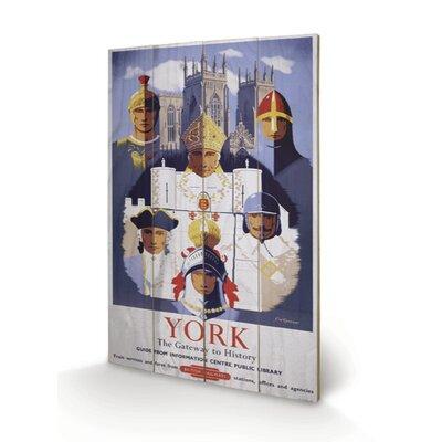 Art Group Yorkshire by Train Vintage Advertisement Plaque