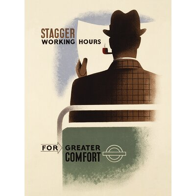 Art Group Transport for London - Stagger Working Hours Vintage Advertisement Canvas Wall Art