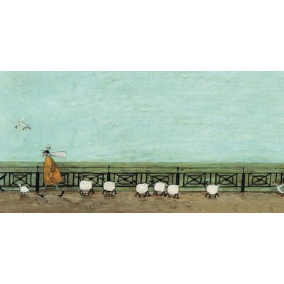 Art Group Moses Follows That Picnic Basket by Sam Toft Canvas Wall Art