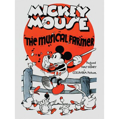 Art Group Mickey Mouse, The Musical Farmer Vintage Advertisement Canvas Wall Art