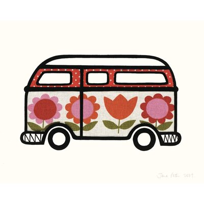 Art Group Flower Power Camper by Jane Foster Graphic Art on Canvas