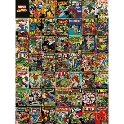 Art Group Marvel Comics, Covers Collage Vintage Advertisement Canvas Wall Art