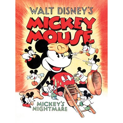 Art Group Mickey Mouse, Mickey's Nightmare Vintage Advertisement Canvas Wall Art