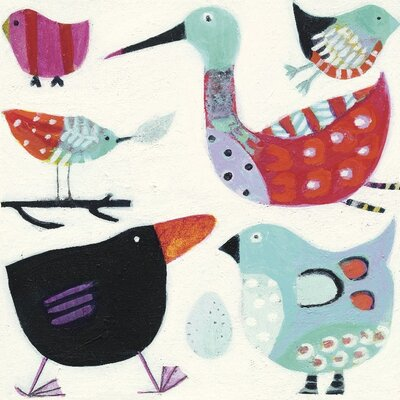 Art Group Feathered Friends by Anne Davies Canvas Wall Art