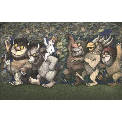 Art Group Let the Wild Rumpus Start III by Maurice Sendak Vintage Advertisement Canvas Wall Art