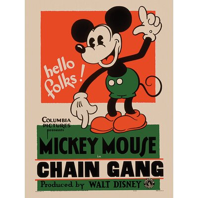 Art Group Mickey Mouse, Chain Gang Vintage Advertisement on Canvas