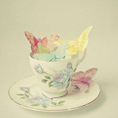 Art Group Cup of Butterflies by Cassia Beck Canvas Wall Art
