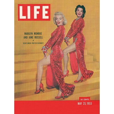 Art Group Time Life - Life Cover Monroe and Russell Vintage Advertisement Canvas Wall Art