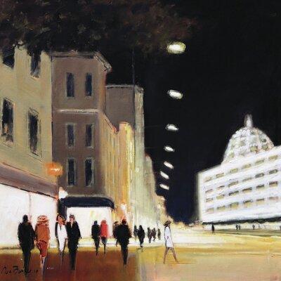 Art Group Late Shoppers - Harrods by Jon Barker Canvas Wall Art