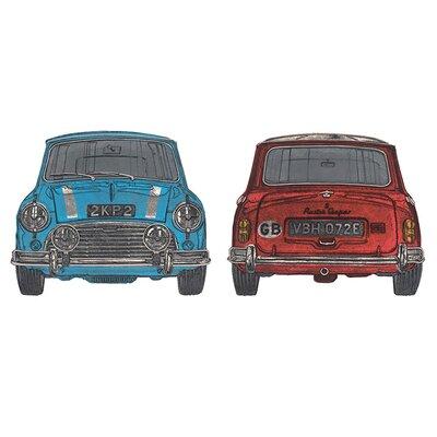 Art Group Blue Mini Red Mini by Barry Goodman Canvas Wall Art