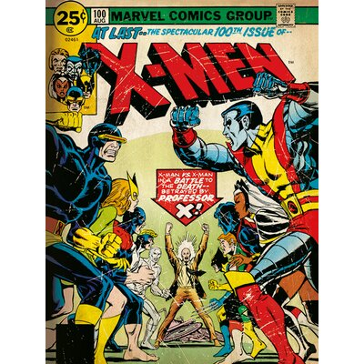 Art Group XMen - 100th Issue Vintage Advertisement on Canvas