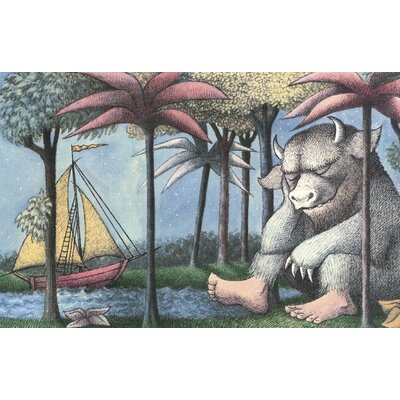 Art Group Where the Wild Things Are by Maurice Sendak Vintage Advertisement Canvas Wall Art