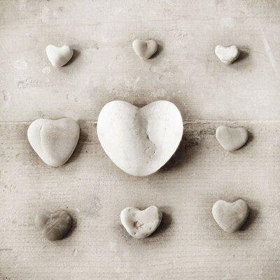 Art Group Stone Hearts by Ian Winstanley Canvas Wall Art