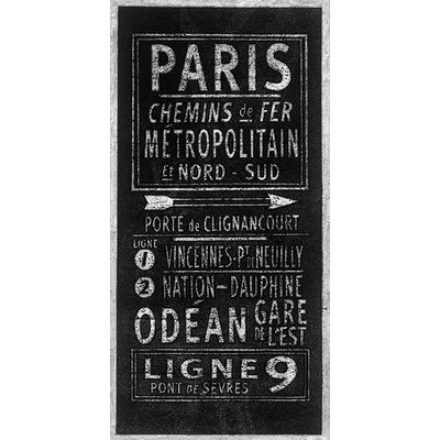Art Group Paris by Barry Goodman Typography Canvas Wall Art