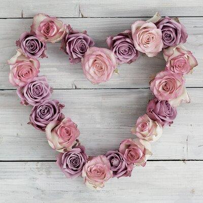 Art Group Rose Heart by Howard Shooter Canvas Wall Art