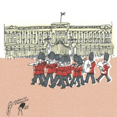 Art Group They're Changing Guard at Buckingham Palace II by Susie Brooks Canvas Wall Art