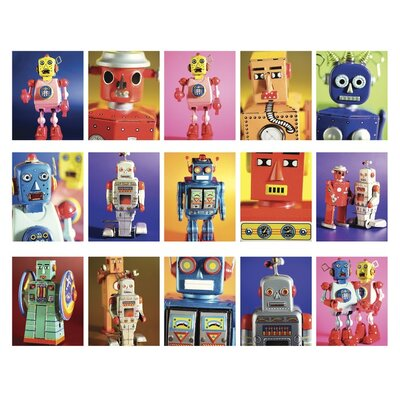 Art Group Robot Metropolis by Howard Shooter and Lauren Floodgate Collage Graphic Art on Canvas