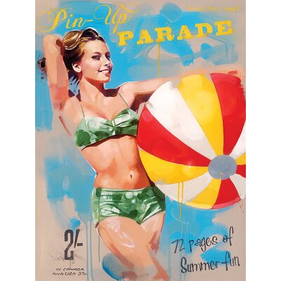 Art Group Pin-Up Parade by James Paterson Vintage Advertisement Canvas Wall Art