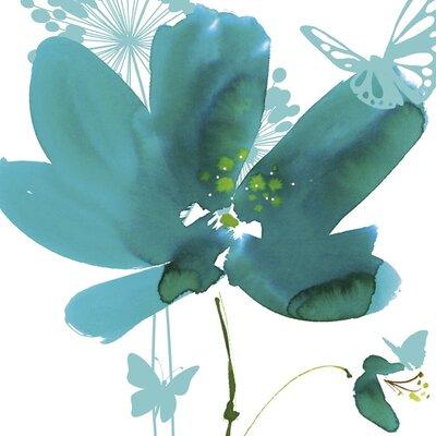 Art Group Butterflies and Flowers by Summer Thornton Canvas Wall Art