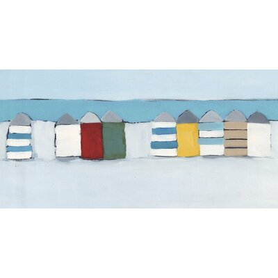 Art Group Summer Beach Huts by Heidi Langridge Canvas Wall Art