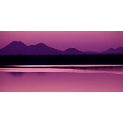 Art Group Silhouette of Mountains at Dusk Canvas Wall Art