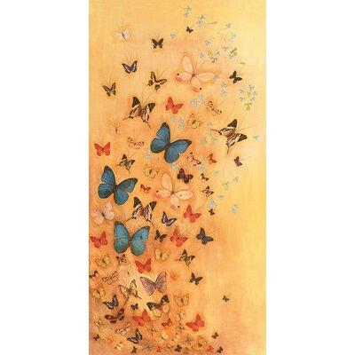 Art Group Butterflies on Warm Ochre by Lily Greenwood Art Print on Canvas